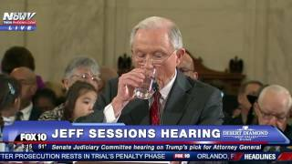 FNN: Protester Interrupts Jeff Sessions Testimony, Chants