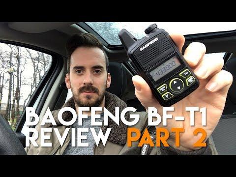 Baofeng T1 Review Part 2 - Long Range Test 72 Miles!