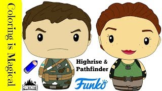 Highrise - Pathfinder Fortnite Skins Toys Funko Pintsize Heroes Coloring Video