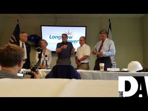 U.S. Secretary of Energy Rick Perry at Longview Power Plant
