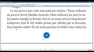 Esperanto with the  Little prince/ Chapter 7