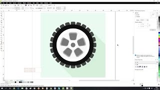 Draw Wheel in Corel DRAW