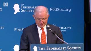 Sessions makes Russia joke at speech