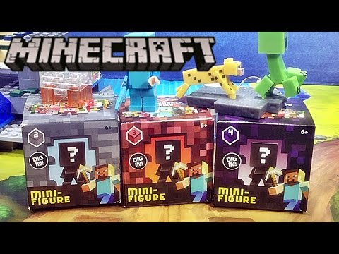 마인크래프트 랜덤 미니피규어 장난감 인형 시리즈 리뷰 Mojang Minecraft mini figure toy