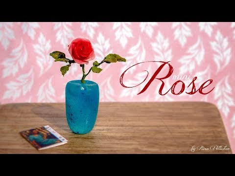Miniature realistic rose 🌹 Easy polymer clay tutorial