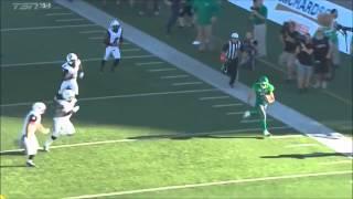 Weston Dressler's CRAZY touchdown against Ottawa.  September 21/2014.