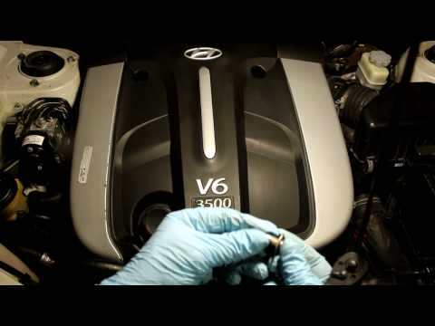 pcv valve how to check clean or replace hyundai 3 5l six cylinder santa fe  every 30000 miles - youtube