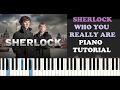 Sherlock Who You Really Are Piano Tutorial mp3