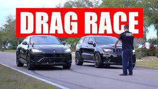Jeep Trackhawk vs Lamboŗghini Urus DRAG RACE!!