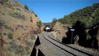 Amtrak #3 in Apache Canyon with Awesome Engineer