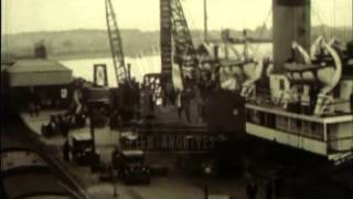 Film about a fleet of ferries crossing the Irish Sea, 1930