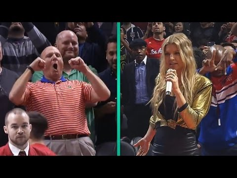 See Fergie's Surprise Clippers Flash Mob Performance -- and Clippers Owner Steve Ballmer's Awkwar…
