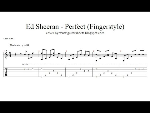 ♫ Ed Sheeran - Perfect ♫ Easy Guitar Fingerstyle Lesson ♫ with ...