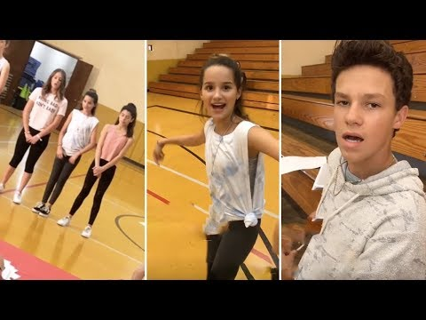 Annie LeBlanc Rehearsing Her Dance Routine For Her TV Show