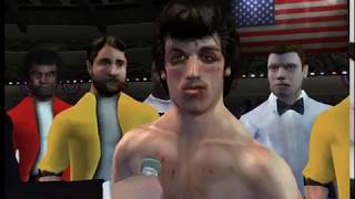 Rocky 2002 (Gamecube) Rocky II vs Apollo Creed II (Movie Mode)