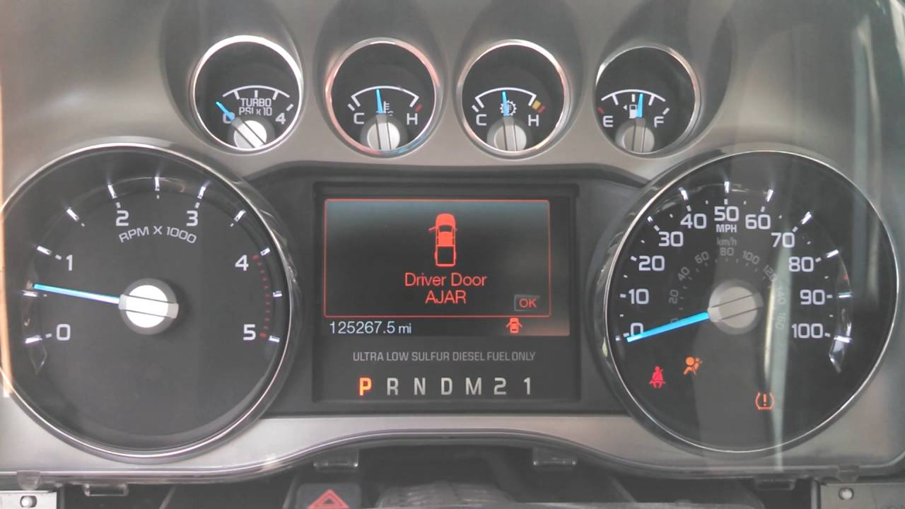 Ford F-250 Powerstroke instrument cluster issue