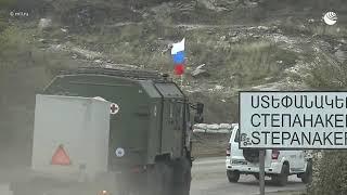 Прибытие российских военных медиков в Степанакерт