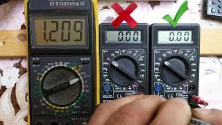Жөндеу мультиметрдің DT830B (в220v режимінде Омметра).