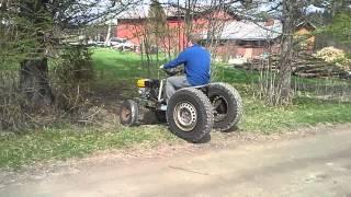 My Homemade Garden Tractor Part6 Driving Around