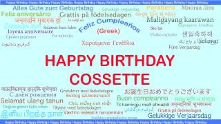 Cossette   Languages Idiomas - Happy Birthday
