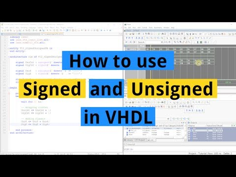 How to use Signed and Unsigned in VHDL