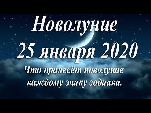 Новолуние 25 января 2020.  Прогноз для каждого знака зодиака.