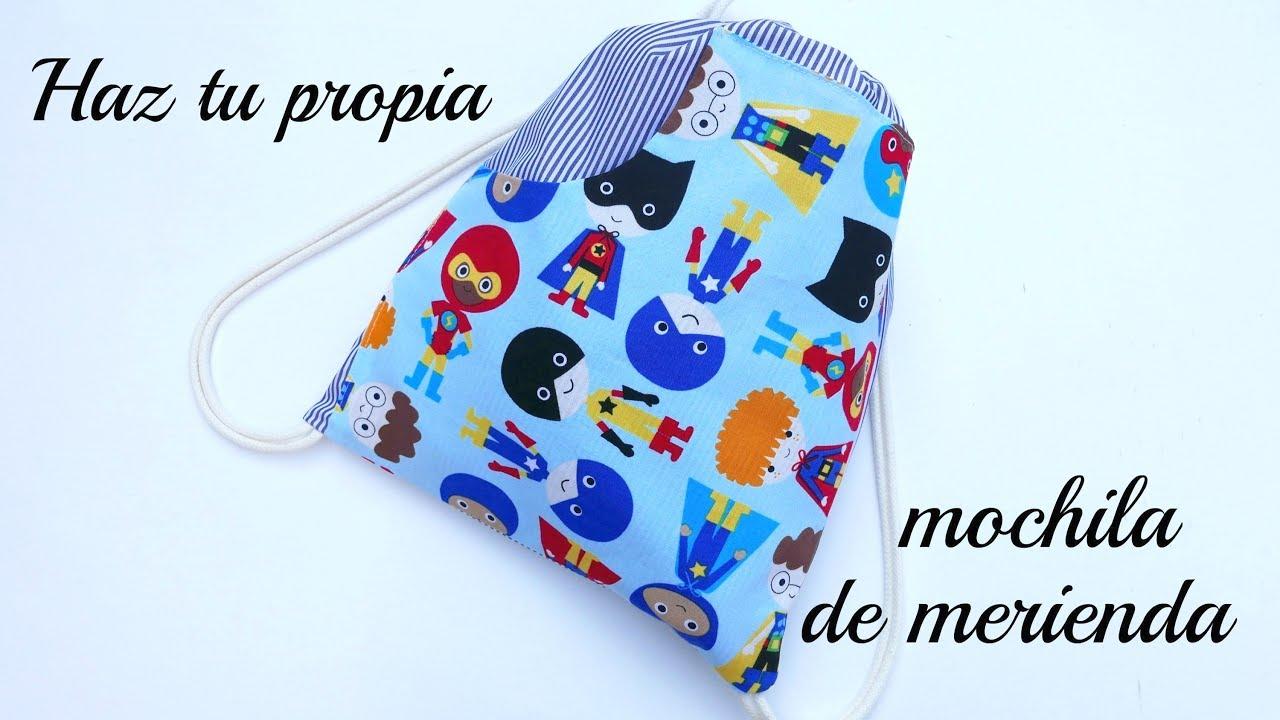 29b04c7de DIY : Haz una mochila para niños en la vuelta al colegio - YouTube