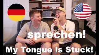 German teaches American how to pronounce GERMAN WORDS!