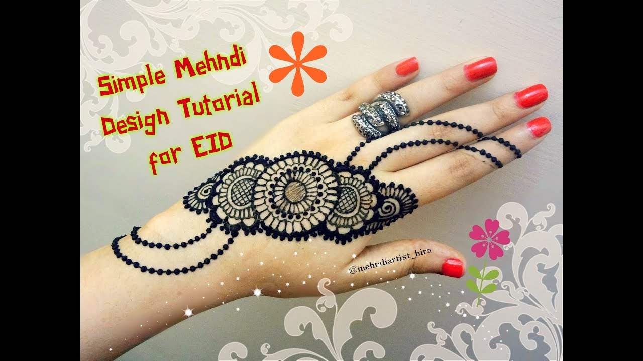 Fashion week Stylish and simple mehandi designs for girls