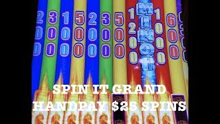 🎰 SPIN IT GRAND HANDPAY ~ $25 MAX BET SPINS ~ SLOT MACHINE