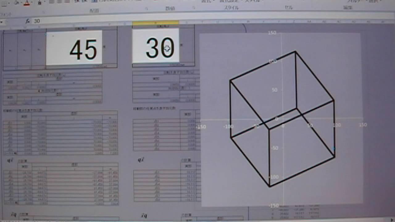 3 グラフ エクセル 次元