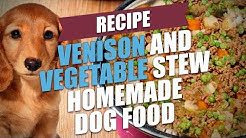 Venison and Vegetable Stew Homemade Dog Food Recipe