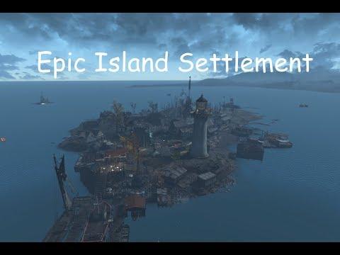 Fallout 4 Epic Island Settlement