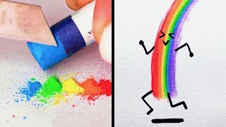 33 CUTE DRAWING TECHNIQUES WITH FINGERS AND PALMS