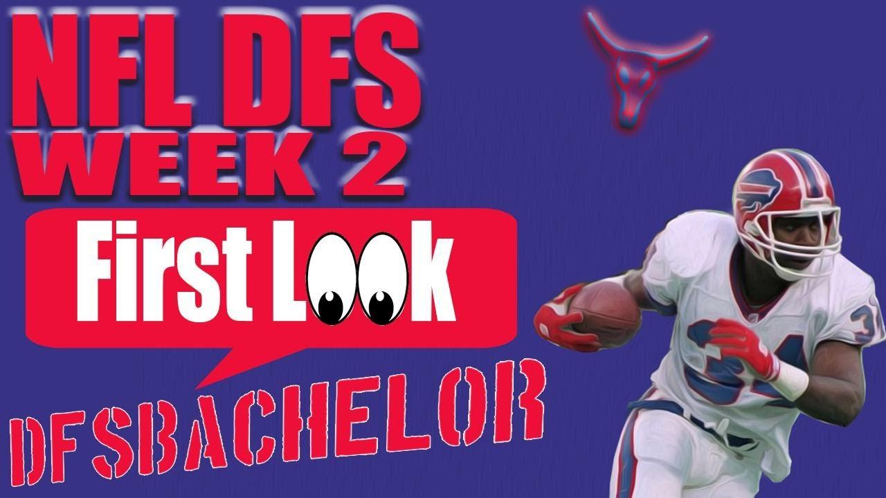 NFL Week 2 Draftkings Picks + Fanduel Picks - First Look NFL DFS Picks Week 2