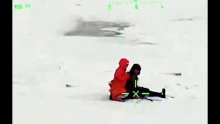 CAUGHT ON CAMERA: Stranded hikers saved from ice floe