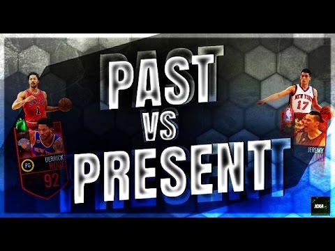 PAST VS PRESENT #3 // JEREMY LIN VS DERRICK ROSE // NBA Live Mobile Gameplay