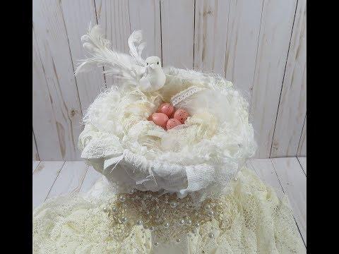 DIY Shabby Chic Snippet Bird Nest | Tutorial
