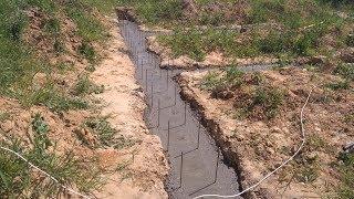 ленточный фундамент своими руками. Часть 2. Литье бетона в землю