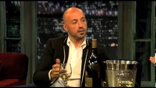 Joe Bastianich with Jimmy Fallon