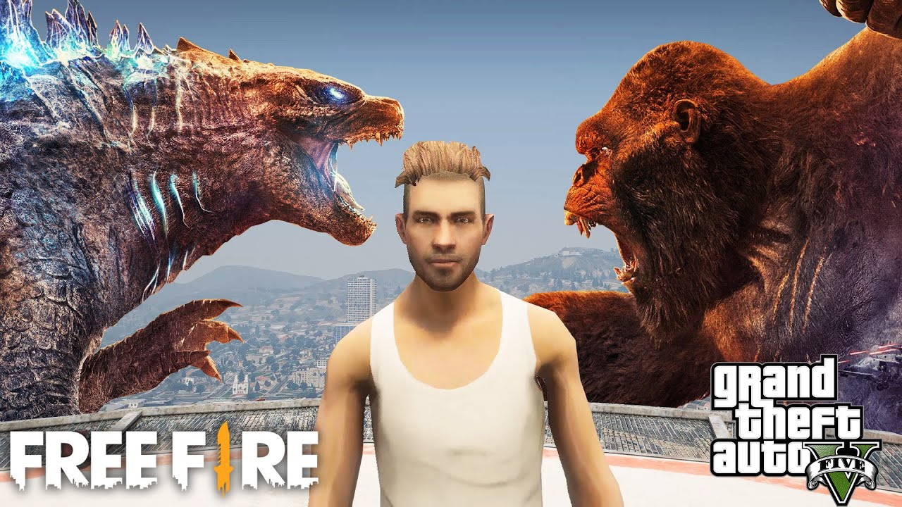 GTA x Free Fire หนังสั้น ตอน วันว่างๆของ Godzilla