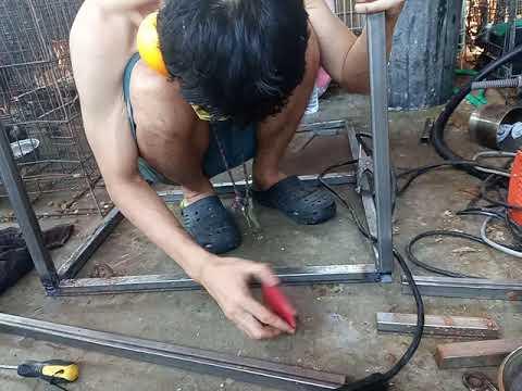 Making  dog cage diy homemade welding part1