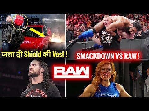 Dean BURNS Shield Jacket ! Lesnar DESTROYS Mahal Smackdown Invades Raw 12 November 2018 Highlights !
