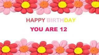 12 You Are 12    Birthday Postcards & Postales
