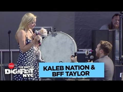 Kaleb Nation Proposes to BFF Taylor | DigiFest NYC Presented by Coca-Cola