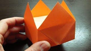 Como hacer una CORONA DE PAPEL Super Cool | Figuras de papel (Muy fácil)