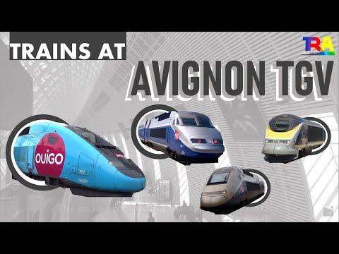 Gare d'Avignon TGV - Trains TGV