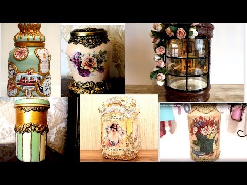 6 Best Glass Jars Decoration Ideas /DIY Home Decor