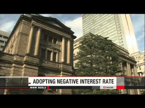 BOJ to adopt negative interest rate policy