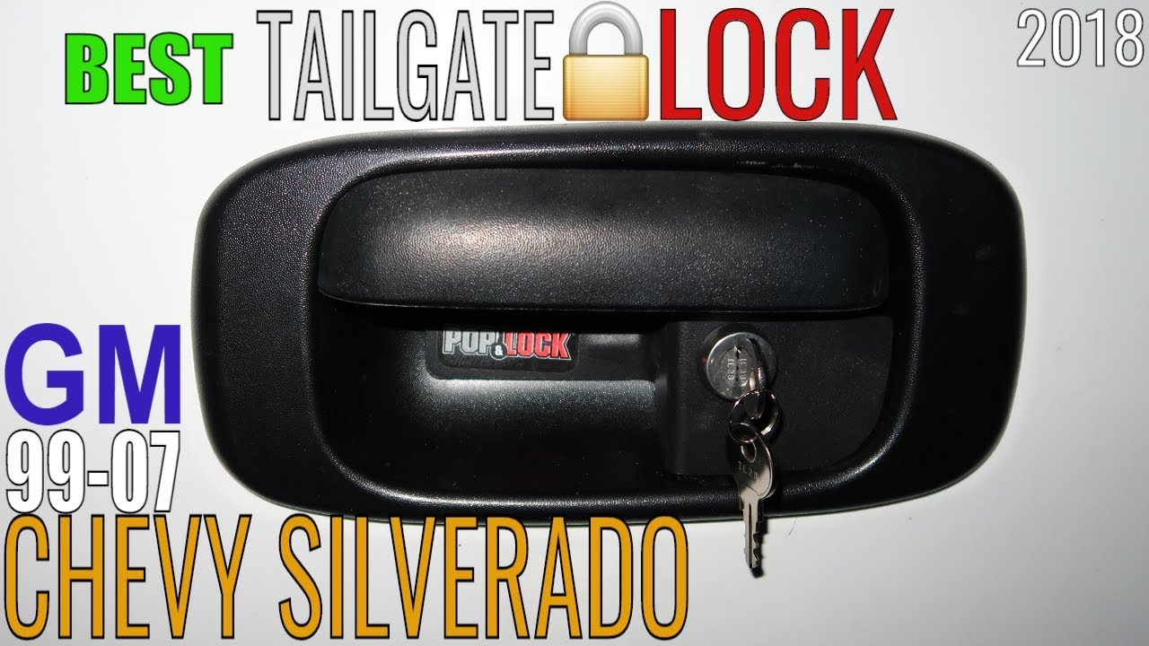 2018 Chevy Silverado >> Chevy Silverado 1500 Sierra TAILGATE LOCK Pop & Lock Review How To Install Locking Rear Handle ...